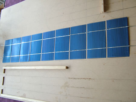 DIY Solar Panel - Cell strings