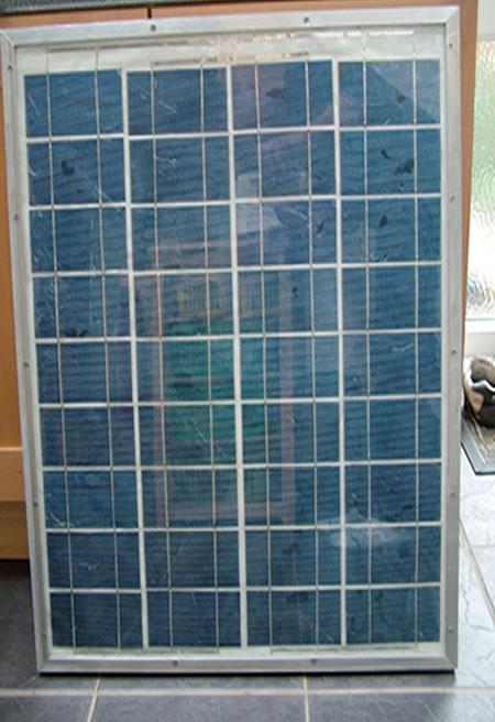 Framing a DIY solar panel