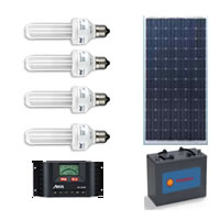 Solar Lighting Kit - 110W 65Ah